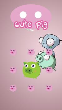 AppLock Cute Pig Theme apk screenshot