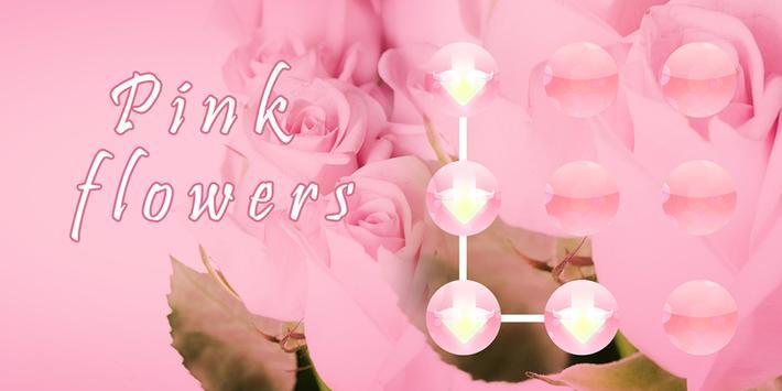 Pink Flowers AppLock Theme poster