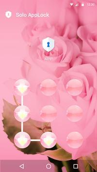 Pink Flowers AppLock Theme apk screenshot
