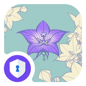 Purple Flower - AppLock Theme icon