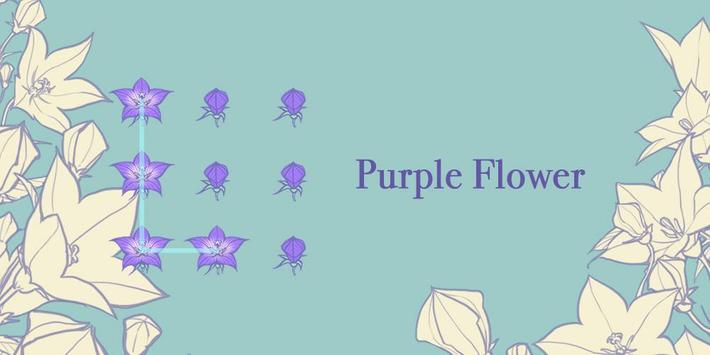 Purple Flower - AppLock Theme poster