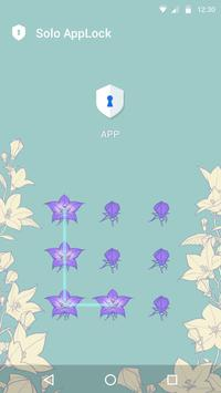 Purple Flower - AppLock Theme apk screenshot