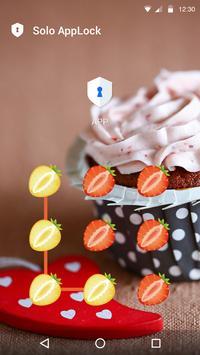 Strawberry AppLock Theme apk screenshot