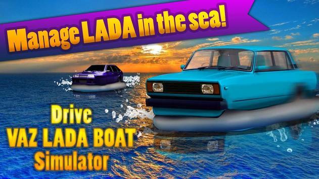 Drive VAZ LADA Boat Simulator screenshot 2