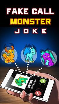 Fake Call Monster Joke poster