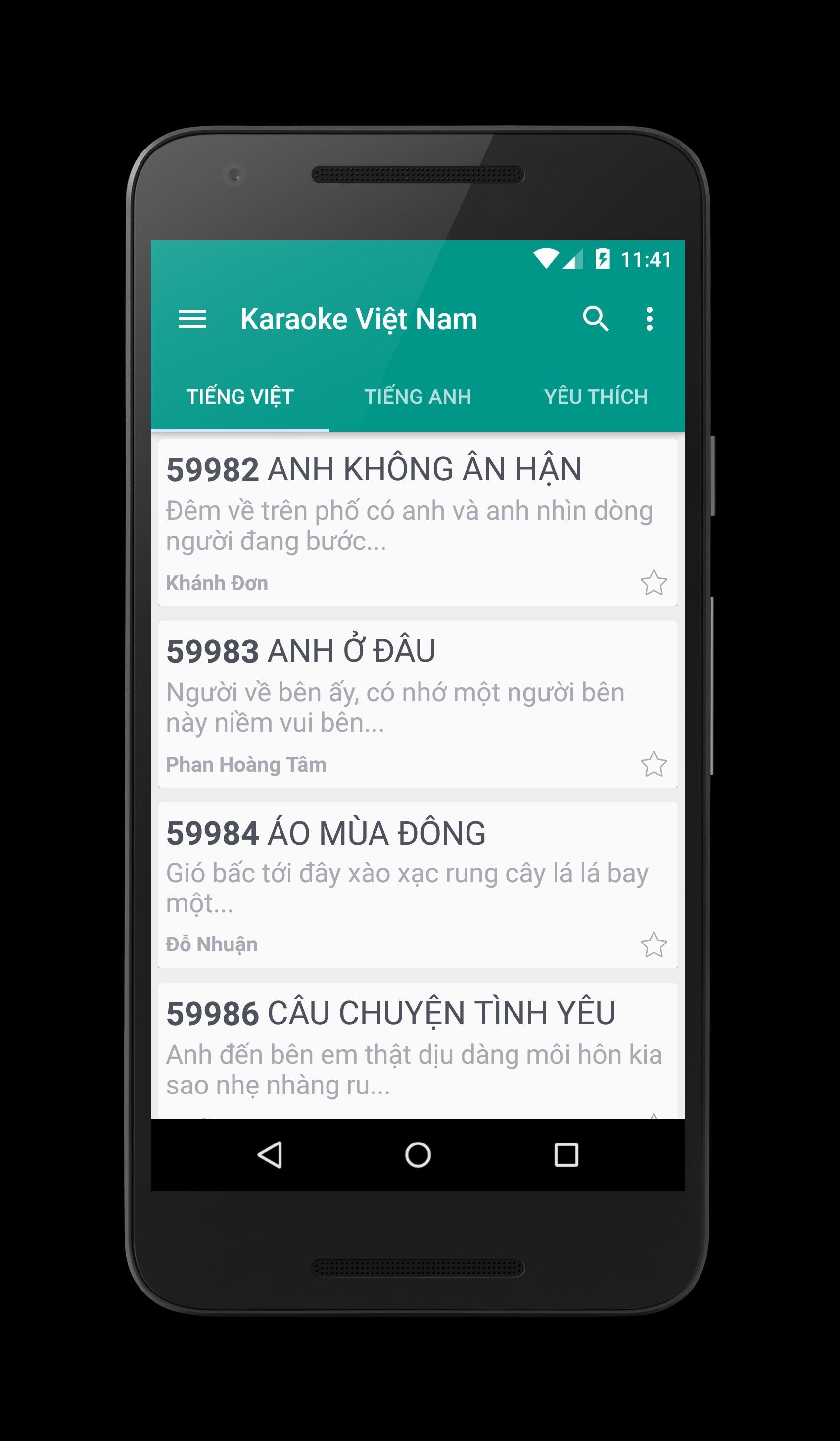 Karaoke Việt Nam For Android Apk Download
