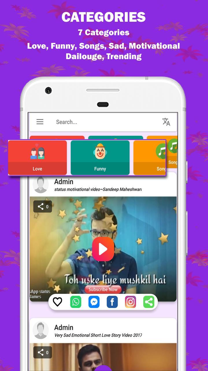 🔥 Full Screen Short Video Status -My Video Status for