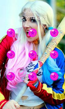 Harley Quinn Locks Pattern apk screenshot