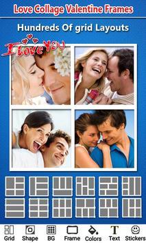Love Photo Collage Valentine poster
