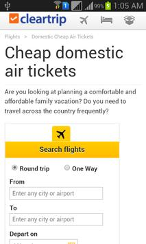 Flight Ticket Booking App apk screenshot