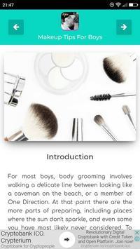 Makeup Tips For Boys screenshot 1