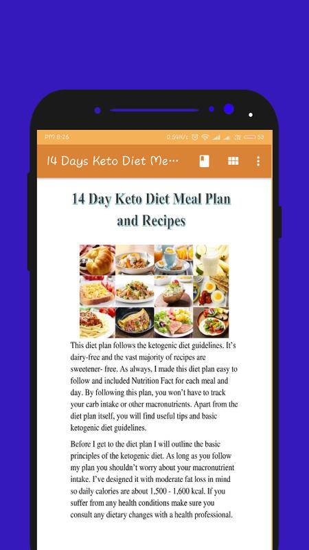 14 Day Keto Diet Meal Plan And Recipes For Android Apk Download