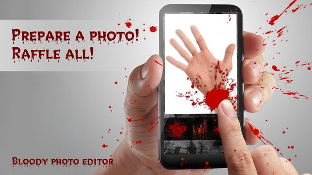Bloody photo editor poster