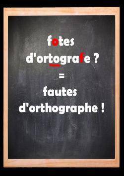 Apprendre et améliorez votre orthographe poster