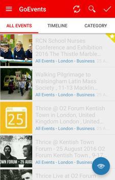 GoEvents , All City Events apk screenshot