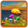 Icona 3D Mushroom-Sun Live Wallpaper