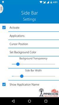 Side Bar captura de pantalla 3