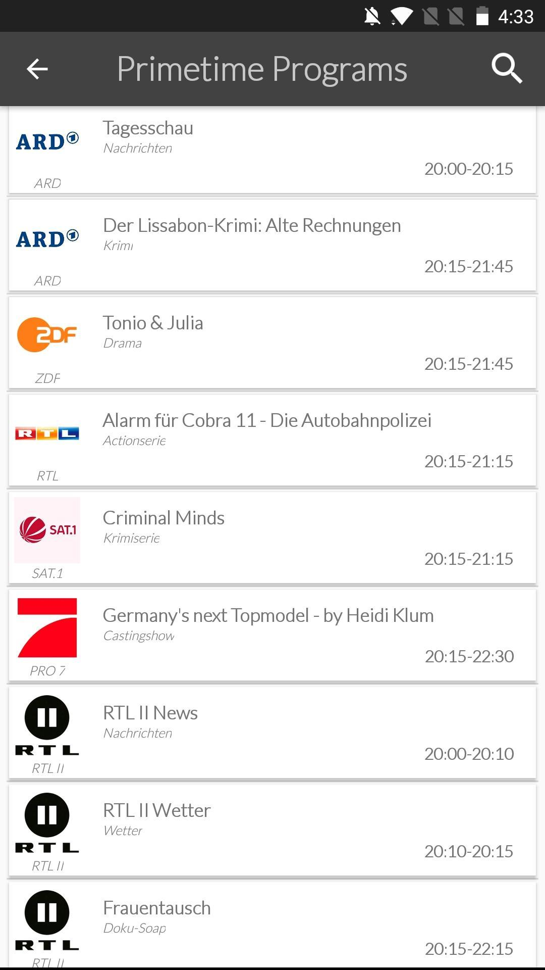 Germany Mobile TV Guide for Android - APK Download