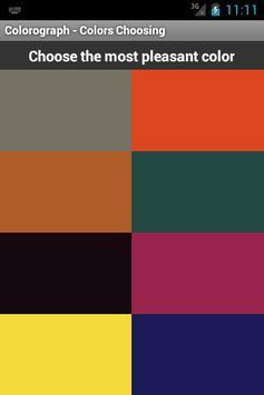 Colorograph (Luscher Test) apk screenshot