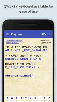 Cryptogram Puzzle Quotes Game syot layar 4