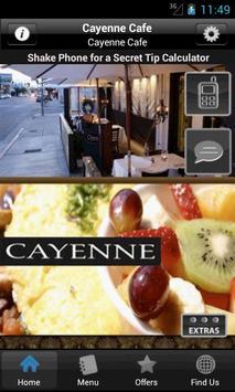 Cayenne Cafe poster