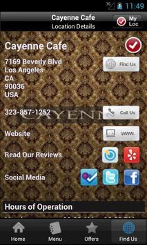 Cayenne Cafe apk screenshot