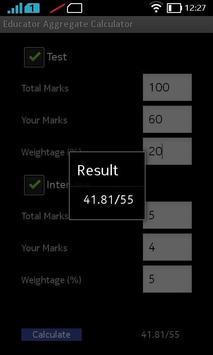 Educator Aggregate Calculator apk screenshot
