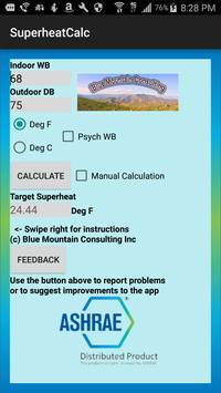 HVAC Superheat Calculator poster