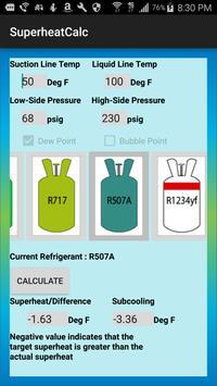HVAC Superheat Calculator screenshot 4