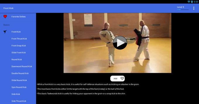 Taekwondo Kicks Videos - Offline screenshot 10