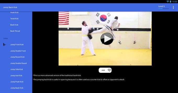 Taekwondo Kicks Videos - Offline screenshot 12