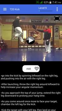Taekwondo Kicks Videos - Offline screenshot 5