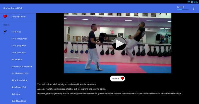 Taekwondo Kicks Videos - Offline screenshot 7