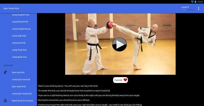 Taekwondo Kicks Videos - Offline screenshot 9