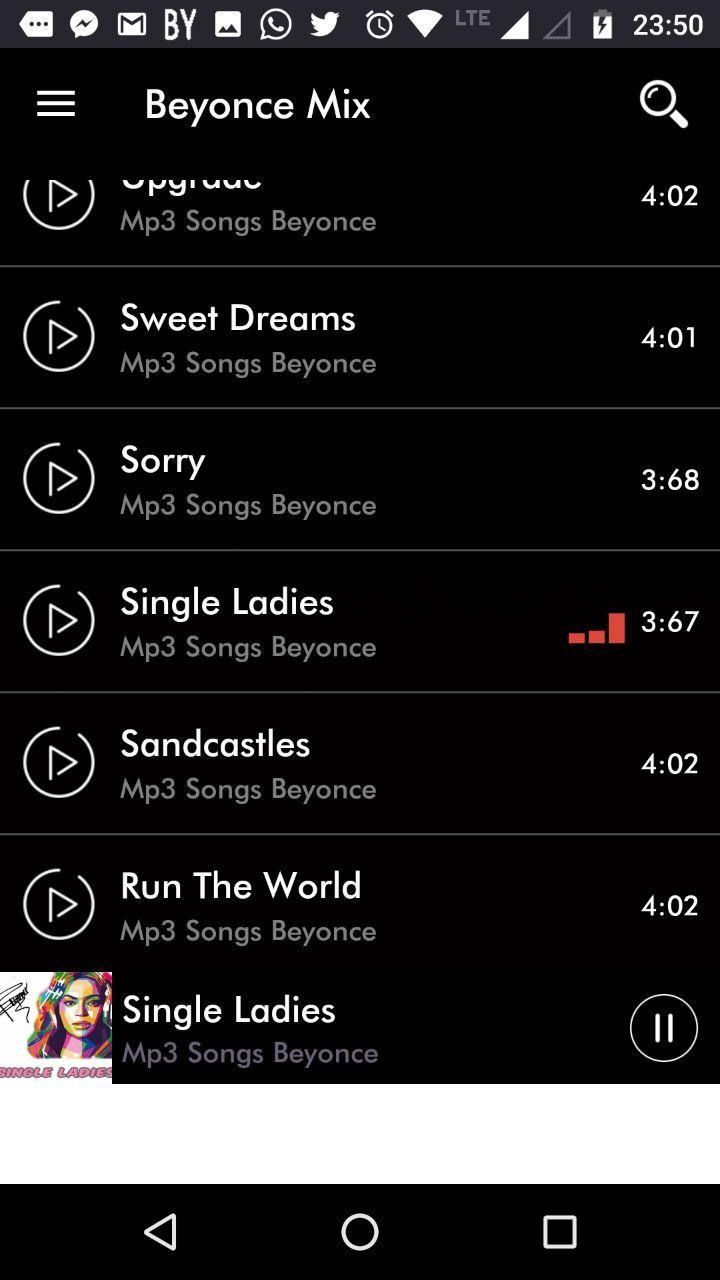 Beyonce lyrics of the songs for Android - APK Download
