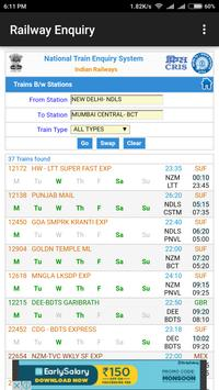 Indian Railway Enquiry App | Live Train Enquiry screenshot 3