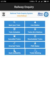 Indian Railway Enquiry App | Live Train Enquiry poster