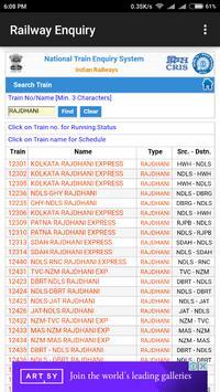 Indian Railway Enquiry App | Live Train Enquiry screenshot 2