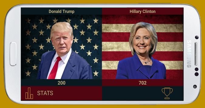 Trump vs Clinton poster