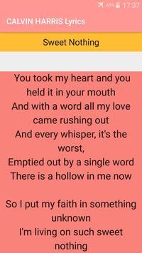 CALVIN HARRIS Songs Lyrics : Albums, EP & Singles poster