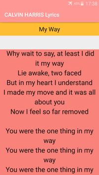 CALVIN HARRIS Songs Lyrics : Albums, EP & Singles apk screenshot