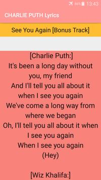 Charlie Puth Songs Lyrics : Albums, EP & Singles screenshot 3