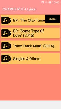 Charlie Puth Songs Lyrics : Albums, EP & Singles screenshot 4