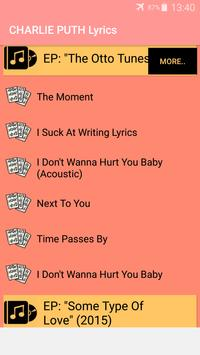 Charlie Puth Songs Lyrics : Albums, EP & Singles screenshot 5