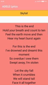 Adele Lyrics : Albums, EP & Singles apk screenshot