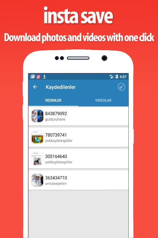 insta save - instagram download photos and videos for