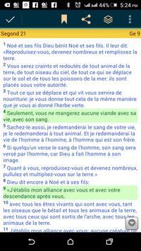 La Bible Segond (French Bible) poster