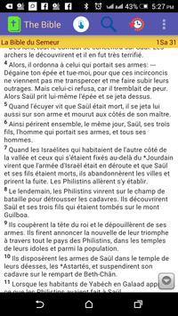 La Bible Segond (French Bible) screenshot 2