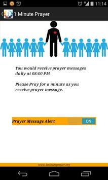 1 Minute Prayer apk screenshot