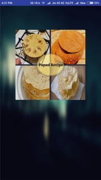 Papad Recipes - Hindi poster